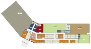 Floor Plan of the future home of NCCOA